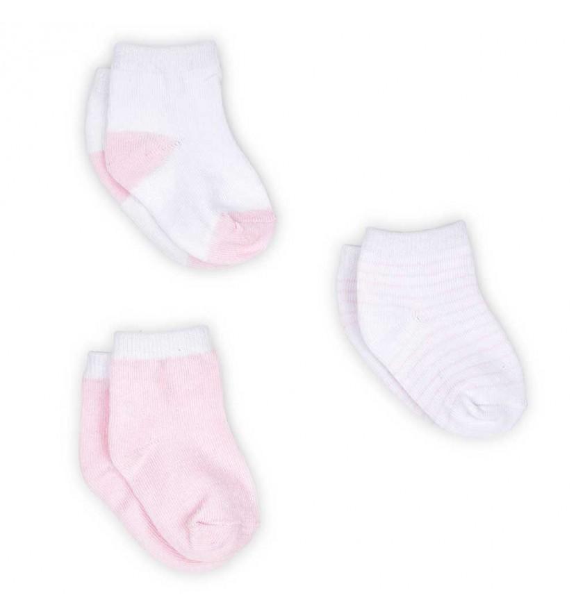 Set ponožek pro miminko - růžový