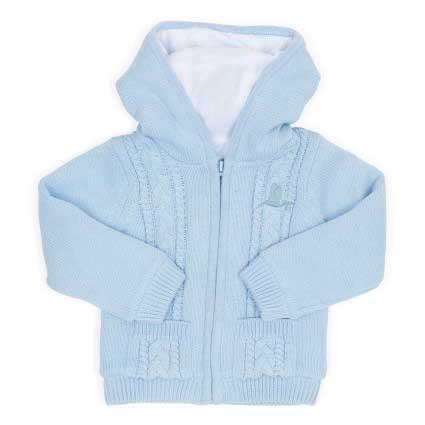 Fleecová bundička - modrá