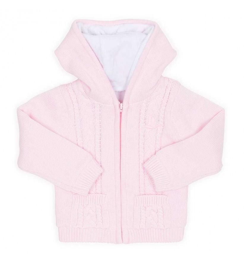 Fleecová bundička - růžová