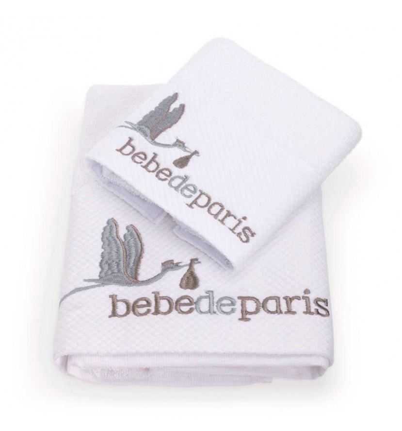 Sada ručníků pro miminko - šedá