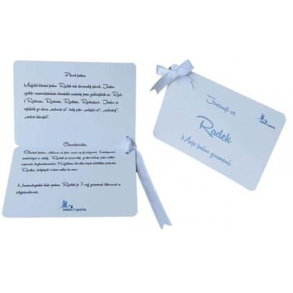 Dětská kartička se jménem a významem jména