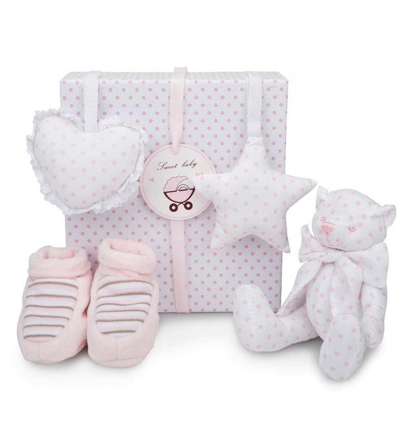 Dětský dárkový set Medvídek - růžový